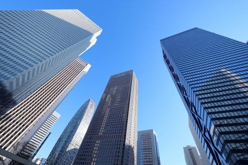 東京 新宿の高層ビル群の写真