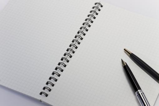 ノート メモ リングノート ペン 万年筆 ボールペン 文具 筆記用具 方眼紙 テキストスペース