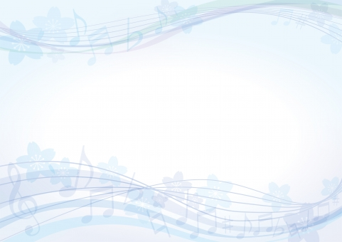 背景 テクスチャ テクスチャー さくら 背景素材 ブルー 模様 ポスター グラフィック ポストカード 青 デザイン 素材 装飾 イラスト ブックカバー 表紙 デコレーション カバー 春 冬 アルバム 音楽 楽器 ピアノ 音符 ミュージック 桜 記号 本