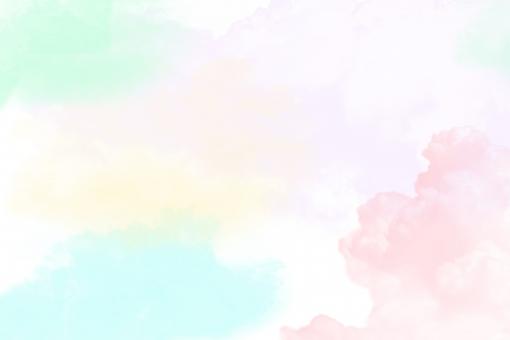 水彩絵の具で可愛いイメージ パステルカラーの写真