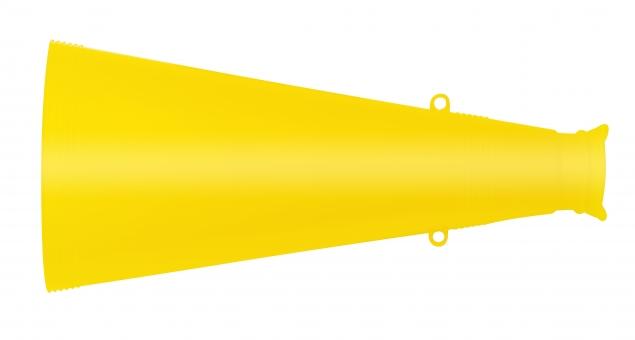 メガホン(PSDは背景透過・切抜きパス付き)の写真