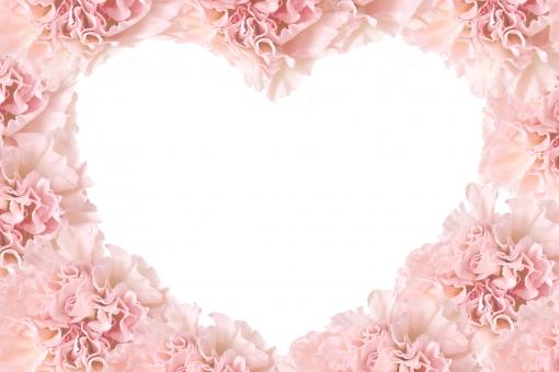 ハート ハート型 ピンク ベビーピンク 枠 母の日 花 植物 優しい 幸福感 背景 ウェディング 結婚式 LOVE ドキドキ ときめき 愛