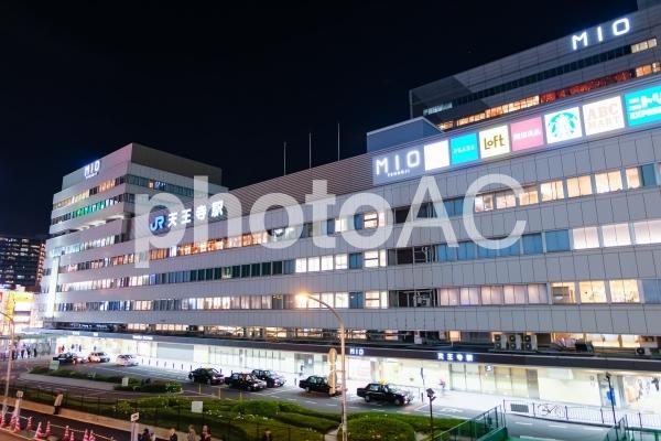天王寺駅 夜景の写真
