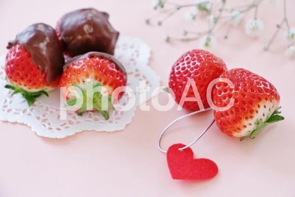 チョコ苺とハートの写真