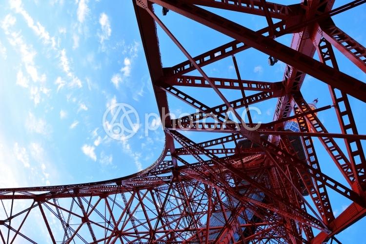 東京タワー画像(下から見上げる)
