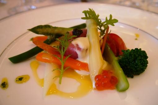 洋風 オードブル 前菜 マグロ 季節 野菜 結婚式 披露宴 華やか フランス料理