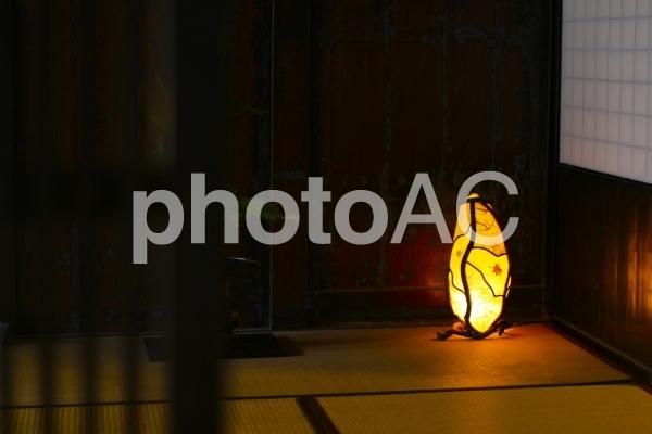 和紙のライトアップの写真