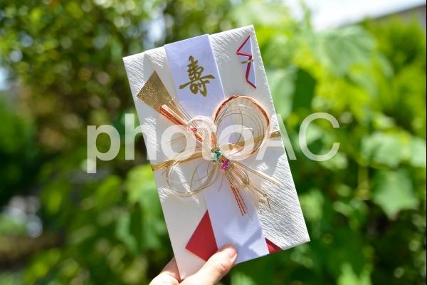 結婚式の祝儀袋の写真