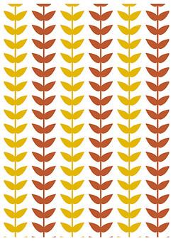 背景 テクスチャ テクスチャー バックグラウンド 背景素材 アップ 模様 正面  ポスター グラフィック ポストカード 柄 デザイン 素材  フレーム 装飾  全面 飾りつけ 北欧風 葉っぱ 葉 双葉 ふたば 植物 草 茶色 黄色