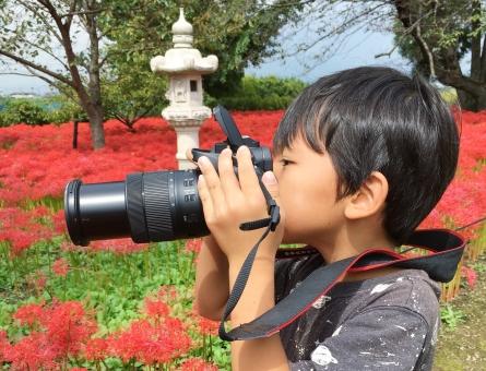キッズカメラマンの写真