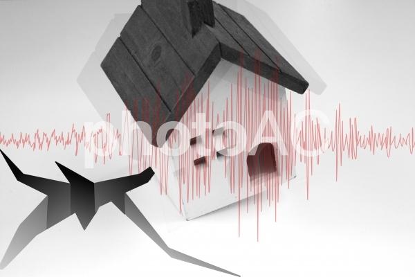 地震の揺れの写真
