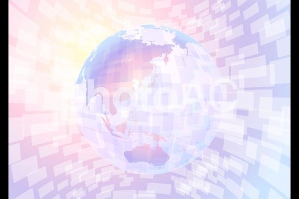 地球とデジタル仮想現実空間-ファンタジーの写真
