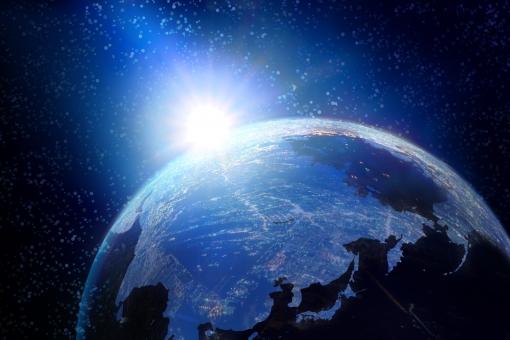 地球の夜明けの写真