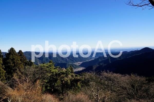 御岳山よりの展望の写真