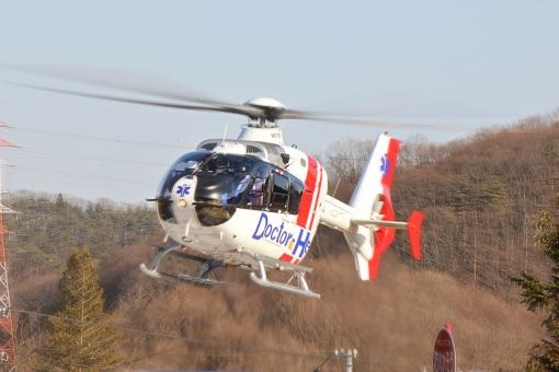 ドクターヘリ ヘリコプター ドクター 医者 医療 プロペラ 救急 人命 命 搬送 飛行 救命 航空救急 救急医療 コード・ブルー