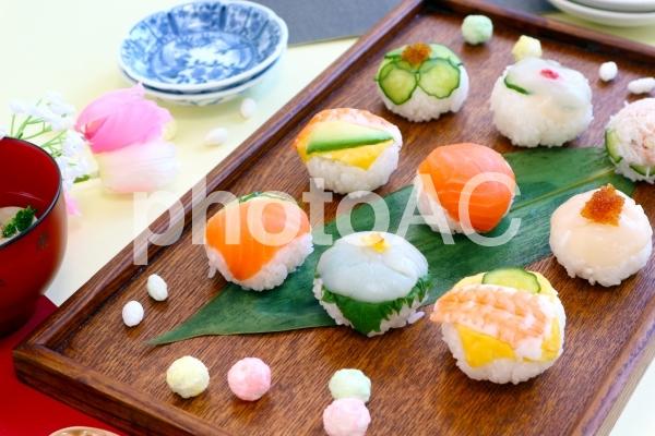 手まり寿司の写真