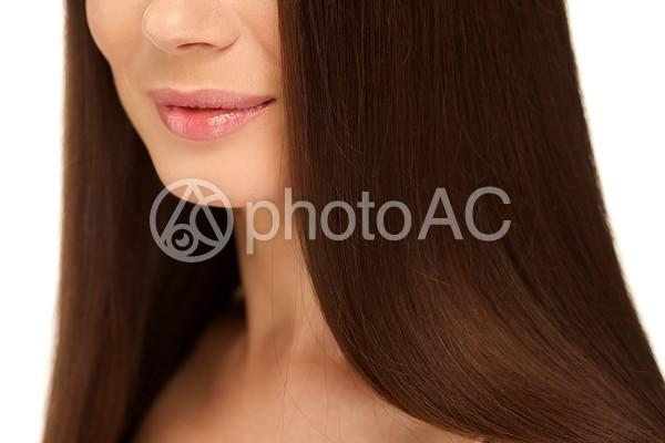 美しいストレートヘア1の写真