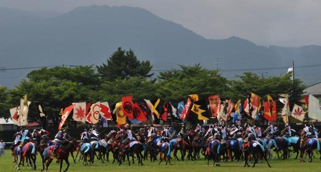 相馬野馬 夏祭り 群雄割拠 嘶く 旗印