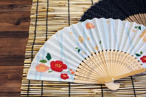 夏 真夏 夏の風物詩 扇子 せんす センス 扇 スダレ すだれ 簾 暑い 暑気払い 涼しい 涼しげ