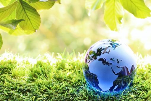地球 地球儀 エコ 青い地球の写真