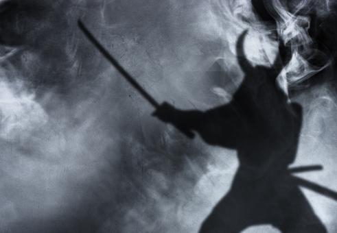 武将の影の写真