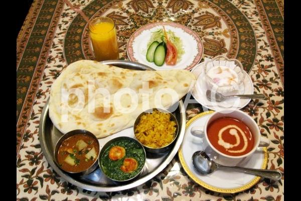 インド料理ランチセットの写真