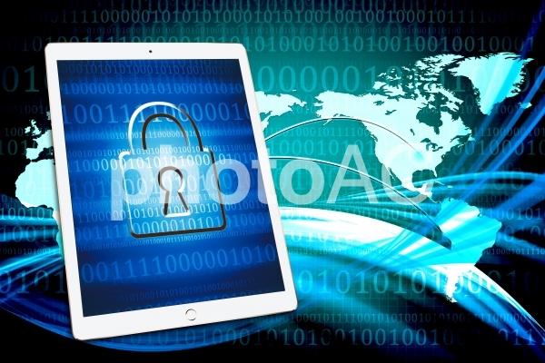 タブレットとセキュリティの写真