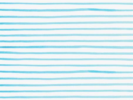 水彩 水彩画 絵の具 水彩絵の具 筆 ラフ フリーハンド 線 ボーダー しましま 縞 柄 模様 テクスチャー テクスチャ 背景 バック バックグラウンド ライン 横縞模様 ハンドメイド 手書き 手描き 手作り 手作り感 ナチュラル ガーリー かわいい 子ども さわやか 爽やか すっきり シンプル トレンド マリン 夏 水色 ブルー