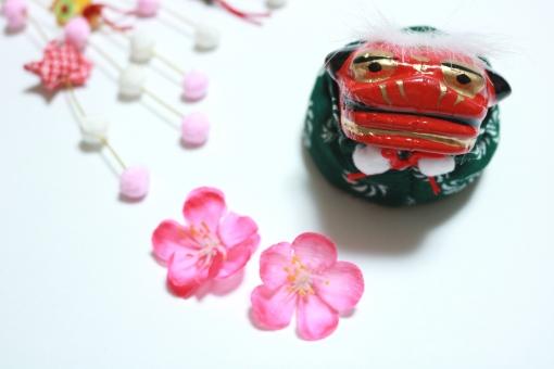 獅子舞 年賀状 お正月 新春 和雑貨 正月飾り ししまい 素材の写真