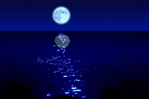 青い月夜の写真