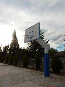 バスケット バスケ コート 光 太陽 自然 木 地面 雲 リンク 公園