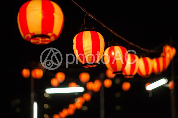 夏祭り 提灯3の写真