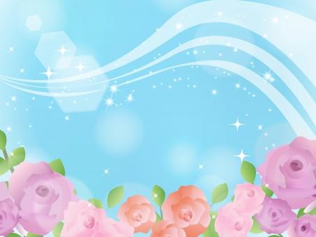 バラ 薔薇 ローズ フレーム 飾り枠 メッセージカード 誕生日 結婚式 招待状 母の日 プレゼント 5月 バラ園 薔薇祭り ピンク 紫 エレガント 綺麗 キラキラ 可愛い おしゃれ 初夏 春 rose 青空 風景 景色 花 植物