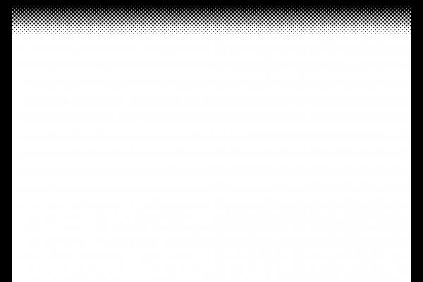 黒丸のハーフトーン(上部だけ)psdデータは背景レイヤー分けの写真
