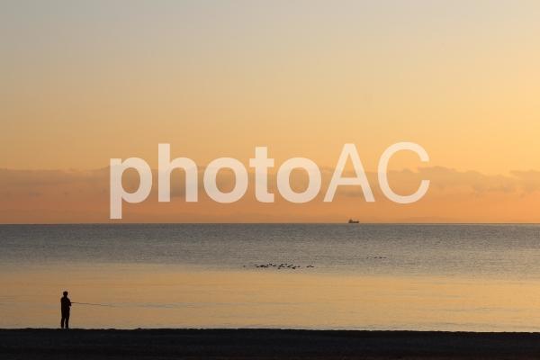 大神子海岸 釣り人の写真