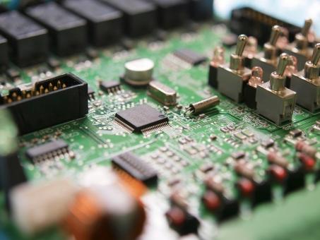 基板 PCB プリント基板 電子回路 電子 コンピュータ IC LSI 半導体 コネクタ 水晶 LED リレー コンデンサ
