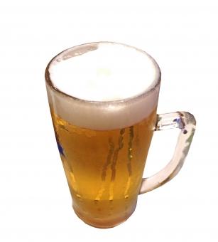 生ビール ジョッキ 大ジョッキ 麦酒 飲料 飲み物 季節 夏 アルコール ドリンク お酒 酒 酒類 ビール 風景 景色 グルメ 白抜き