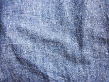 テクスチャ デニム ダンガリー 青 しわ 素材 布 背景 ナチュラル カントリー