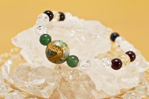 ブレスレット パワーストーン 龍 お守り 水晶 石