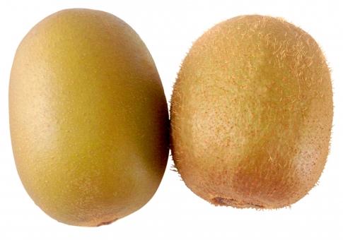 果物 フルーツ 食べ物 茶色 青果 2個 切り抜き キウイ 背景透過