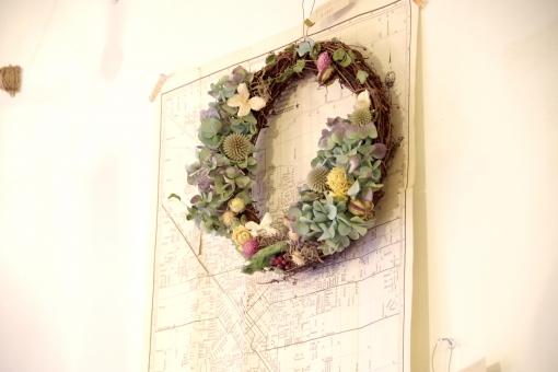アンティーク 植物 雑貨 小物 地図 紙 花 プラント 飾り
