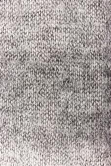ニット 編地 毛糸 糸 混紡 編み物 ニット地 編み地 編む テキスタイル 背景 背景素材 テクスチャ ファッション 素材 手芸 繊維 衣類 編み目 生地 衣類 カットソー 衣服 アパレル 模様 ファブリック 雑貨 手編み 裁縫 黒 白 グレー 白黒 モノクロ かすれ ダメージ
