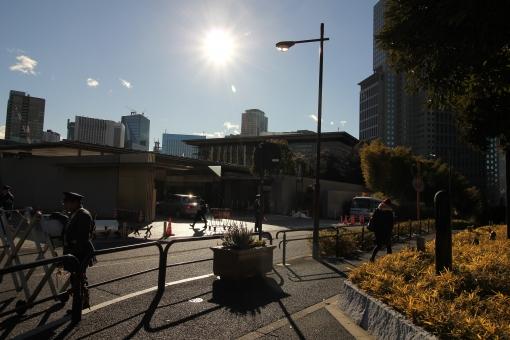 総理官邸 総理大臣官邸 官邸 総理官邸入口 永田町 厳重警備 首相官邸