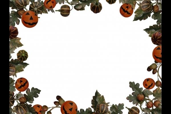 カボチャのフレーム ハロウィン仕様の写真