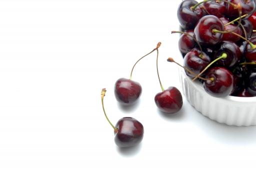 アメリカンチェリー ダークチェリー ブラックチェリー チェリー さくらんぼ サクランボ フルーツ 果物 スイーツ デザート アメリカ 童貞 チェリーボーイ 白バック 白背景