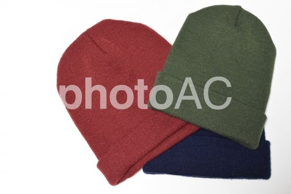 ニット帽子の写真