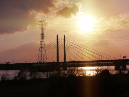 夕景と橋003の写真