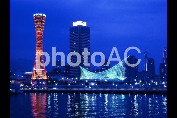 神戸ハーバーランドの夜景の写真