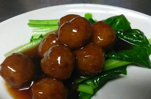 肉団子 甘酢 黒酢 中華料理 定食 ランチ 食べ物 肉 美味しい